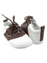 Angel Baby Brown Leather Saddle Shoes