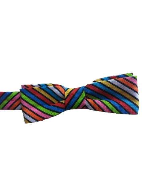 Toddler Boy Tropical Striped Cotton Bow Tie
