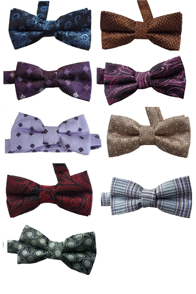 Microfiber Multi Patterned Boy's Bow Ties