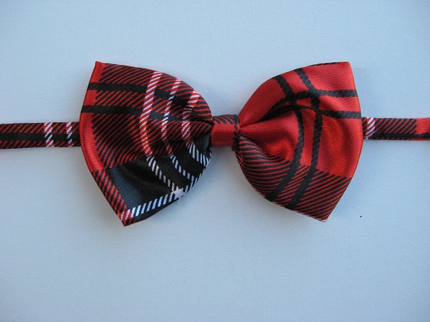 Infants and Toddlers Patterned Bow Ties - Red Plaid