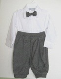 Boys Gray Plaid Knicker Outfit with no Suspenders