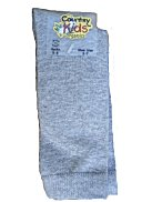 Country Kids Lt Gray Organic Cotton Knee Socks