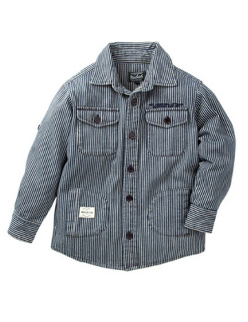 Woolrich Railroad Stripe Shirt Jacket - Toddlers