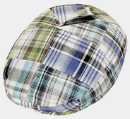 Toddler / Youth Cotton Patch Plaid Golf Driver Cap - Blue