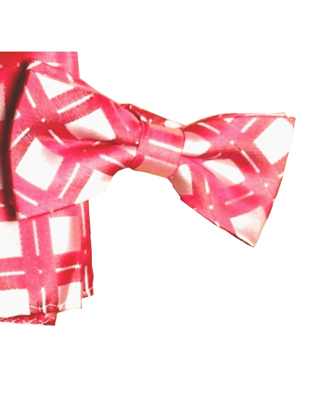 Bow Tie & Hanky Set - Red & White