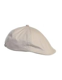 19200696423 Linen Cotton French Newsboy Driver Cap - Lt Gray