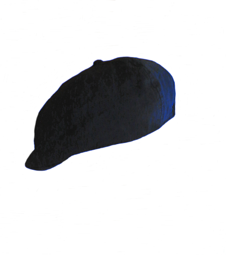 Linen/Cotton French Newsboy Driver Cap - Navy