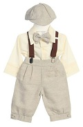 Fouger Boys Solid Sandstone Linen Knicker Set 6m - 4