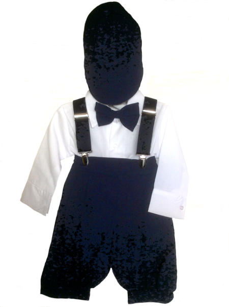Boys Navy Blue Vintage Style Knicker Set