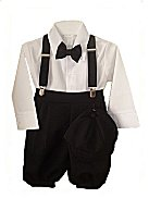 Fouger Boys Toddler Solid Black Knicker Set