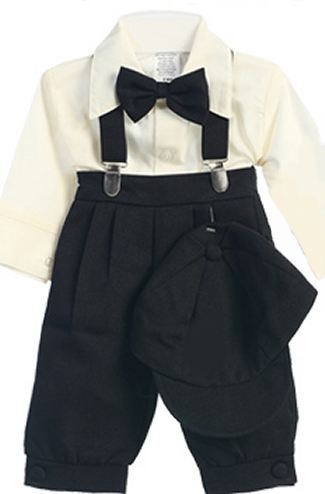 Infant Black Knicker Set with Ivory Shirt