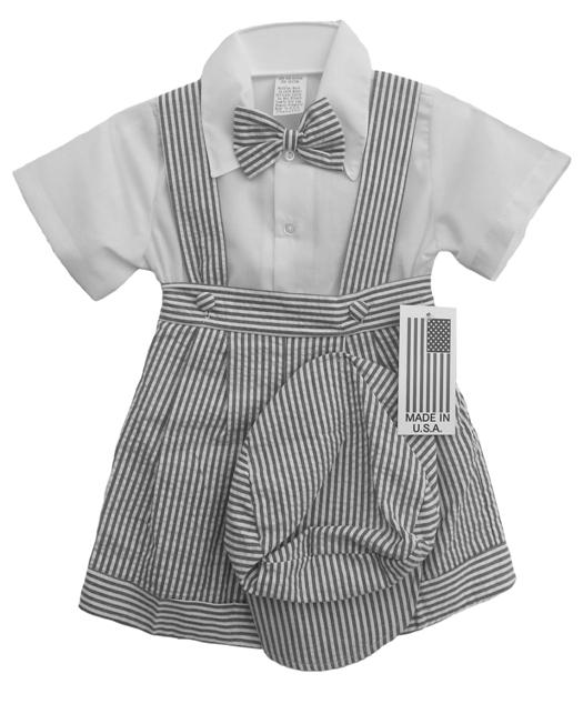9808debe96b DapperLads - Sale!! Baby Boy Seersucker 4 Pc Outfit - Charcoal ...