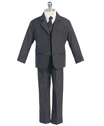 Fouger Boy's Charcoal Gray Suit - Size 3