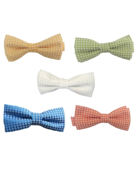 Microfiber Diamond-Patterned Boy's Bow Ties
