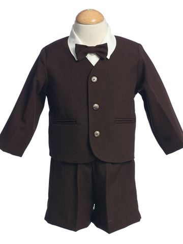 Chocolate Brown / Ivory Ring Bearer Eton Suit SALE