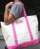 The Personalized Tremendous Tote in Pink
