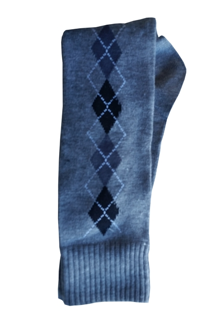 Older Boys Argyle Knee Socks - Lt Gray