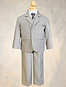 Boy's Silver 5-Piece Suit by Lito