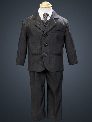 Lito Dark Gray Boy's 5-Piece Suit