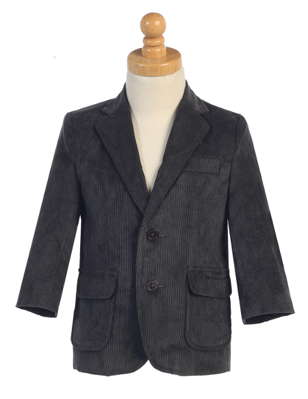 **New Winter/Spring Warm-Ups** Corduroy Charcoal Blazer