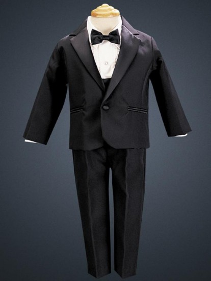 Black Lito Dinner Jacket Tuxedo with Cummerbund