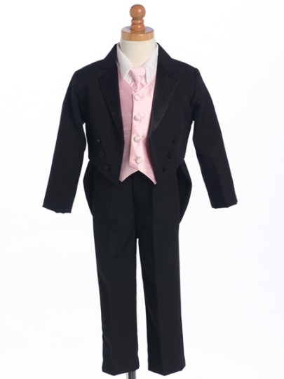 Split Tail Tuxedo with Vest & Long Tie or Bow Tie