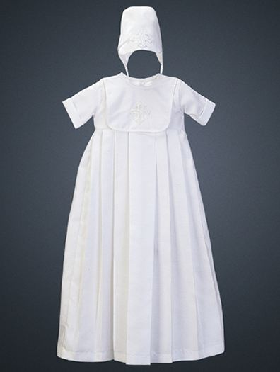Boy's Shantung Christening Gown - Heirloom  Collection