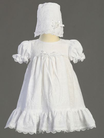 Baby Girl Cotton Embroidered Christening Dress