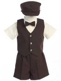 55a5a2fcfc8  New  Formal Vest and Shorts Set - Chocolate Brown