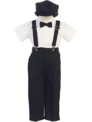 fa0f69f0af9 Ring Bearer Pants   Suspenders Set - Black