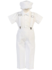 df8c0668e3c  New  White Special Occasion Pants   Suspenders Set