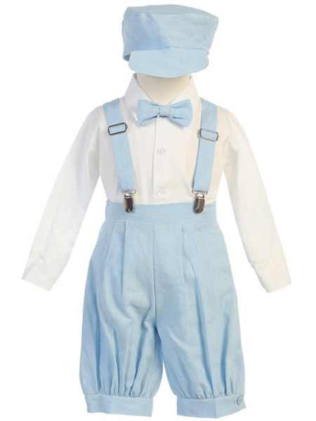 **NEW** Boys Rayon-Linen 5 Piece Knicker Set - Light Blue