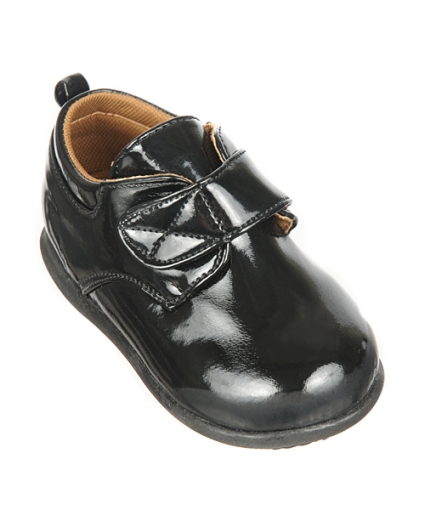 Close-Out Black Patent Dress Shoes Velcro Strap