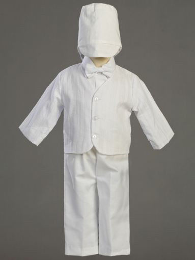 Cotton Christening Special Occasion 5 - Piece Eton Suit