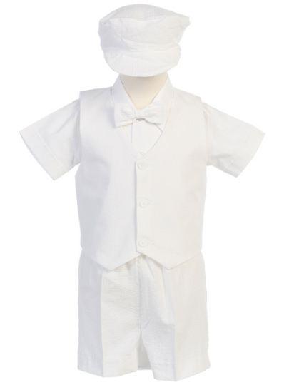 84309fa6026 DapperLads - Sale Lito Seersucker Shorts Set - White - Infants 3 mo ...