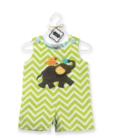 Infant Boys Elephant Applique Shortall