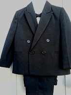 Close-Out Boy's Black Double Breasted Suit