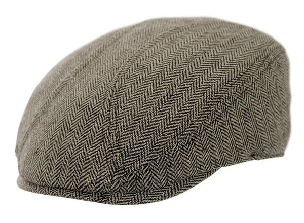 Brown Tweed Newsboy Ivy Cap For Toddlers