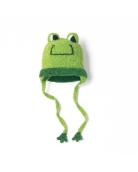 San Diego Hat Hand Crocheted Chenille Infant Boy Frog Hat
