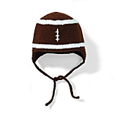 DayLee Designs Knit Baby Football Fan Hat