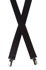 chocolate brown elastic suspenders