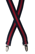 navy / red elastic suspenders