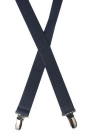 navy blue elastic suspenders