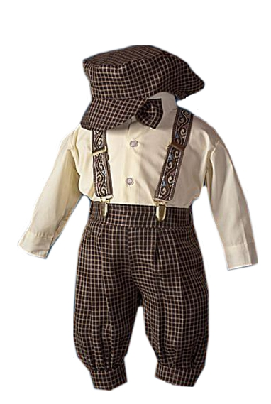 Chocolate Brown Check  Knicker Set