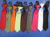 Close-Out Satin Clip-On Dress Ties - 11 Inch