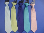 Close-Out Satin Clip-On Dress Ties - 14 Inch