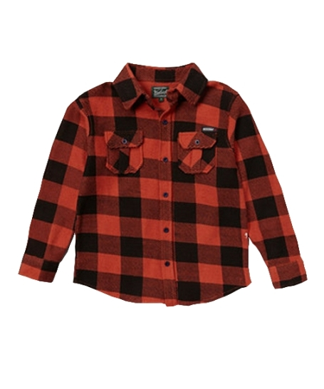 Woolrich Orange Vintage Buffalo Check Button-Up Shirt - Toddlers