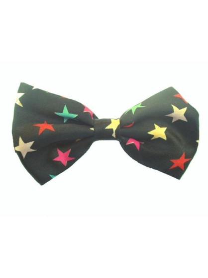 Satin Bow Ties - Colored Stars