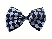 SALE Satin Patterned Bow Ties - Black Checks