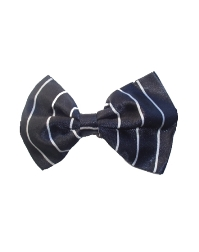 SALE Satin Bow Ties - Black Stripes